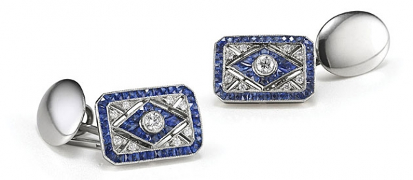 Diamond-cufflinks