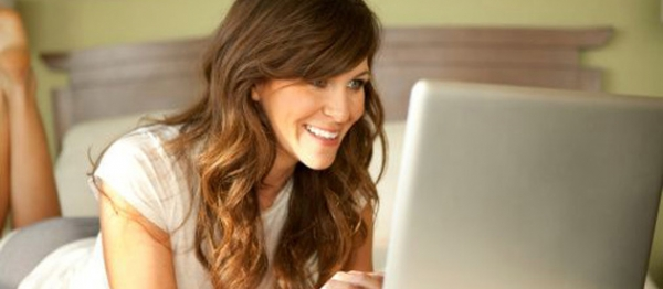 Female-using-laptop