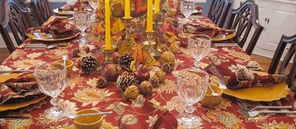 Autumn Diner Table Setting